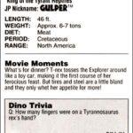 Tyrannosaurus - Isla Nublar (S/F) / (S/F-T/G)