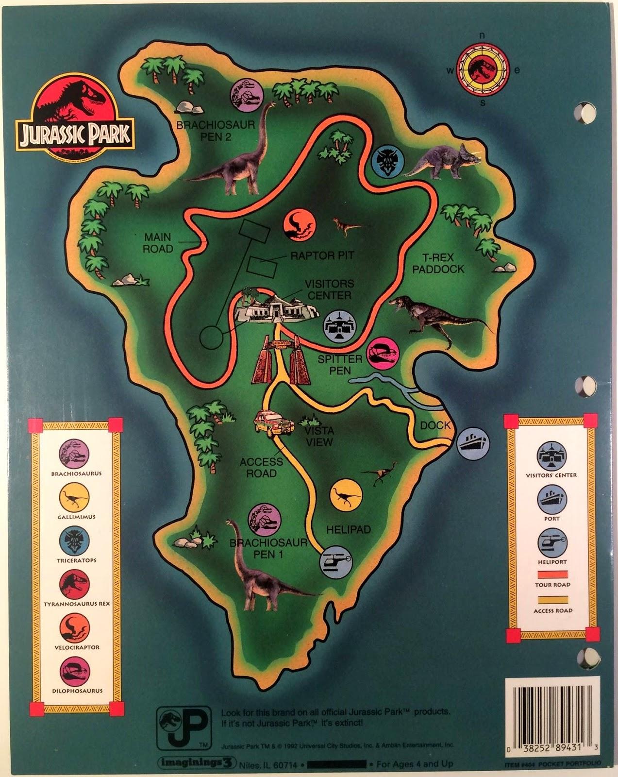 jp book isla nublar map | Juric-Pedia Isla Nublar Map on