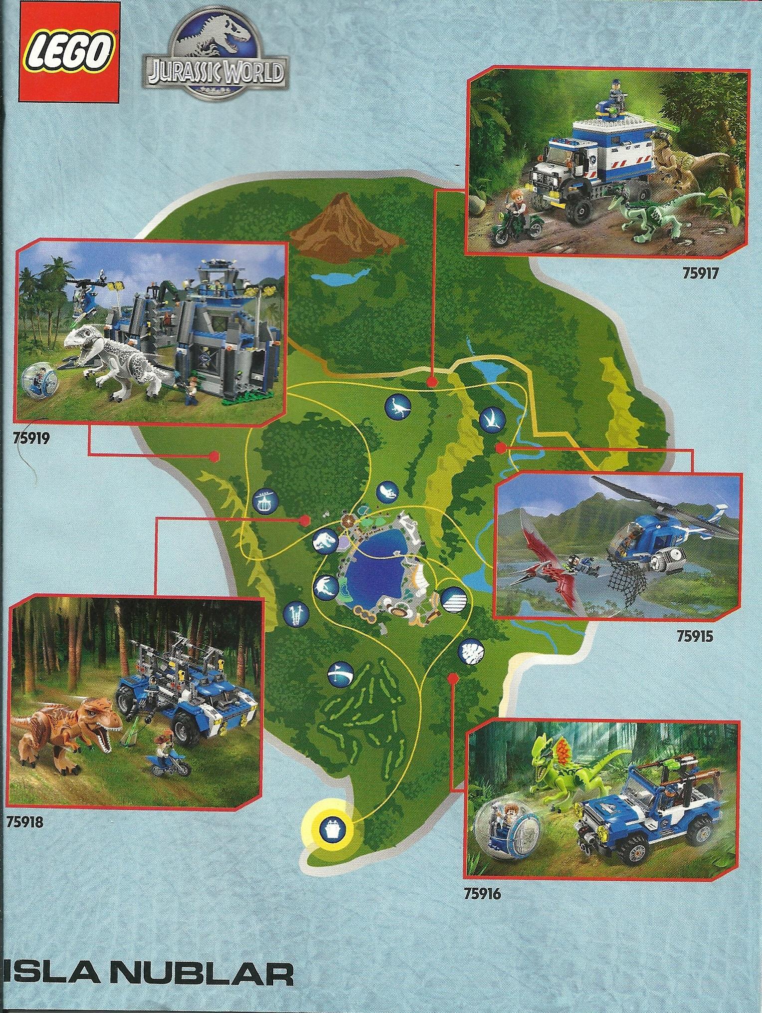 JW Lego Isla Nublar Map